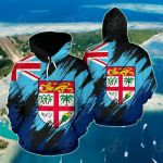 Fiji Flag Painting Ver2 All Over Print Hoodies