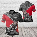 Maori Fall In Rugby All Over Print Polo Shirt