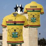 Ghana Kente Round Pattern Coat Of Arms All Over Print Polo Shirt