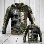 Customize German Camo Skull All Over Print Hoodies