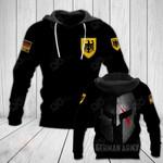 German Army Black Style All Over Print Hoodies