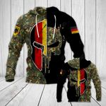 German Army Mask Style All Over Print Hoodies