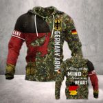 German Army In My Heart All Over Print Hoodies