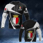 Customize Malta Coat Of Arms - Flag V3 All Over Print Hoodies