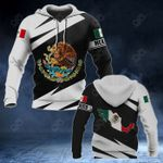Mexico Coat Of Arms - Map Special Version All Over Print Hoodies