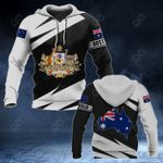 Australia Coat Of Arms - Map Special Version All Over Print Hoodies