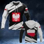 Poland Coat Of Arms - Map Special Version All Over Print Hoodies