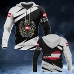 Austria Coat Of Arms - Map Special Version All Over Print Hoodies