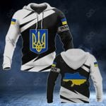 Ukraine Coat Of Arms - Map Special Version All Over Print Hoodies