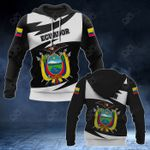 Ecuador Coat Of Arms Lightning Style All Over Print Hoodies