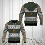 Customize British Army Symbol Camo Christmas All Over Print Hoodies