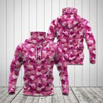 Pink Camo All Over Print Neck Gaiter Hoodie