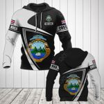 Customize Costa Rica Coat Of Arms - Flag V3 All Over Print Hoodies