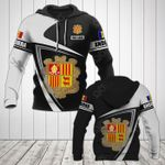Customize Andorra Coat Of Arms - Flag V3 All Over Print Hoodies