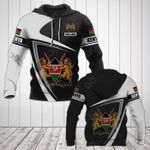 Customize Kenya Coat Of Arms - Flag V3 All Over Print Hoodies