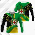 Customize Jamaica Coat Of Arms & Flag Style All Over Print Hoodies