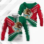 Customize Mexico Coat Of Arms & Flag Style All Over Print Hoodies