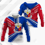 Customize Philippines Coat Of Arms & Flag Style All Over Print Hoodies