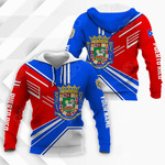 Customize Puerto Rico Coat Of Arms & Flag Style All Over Print Hoodies