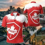 Canada Rugby - Maple Leaf All Over Print Polo Shirt