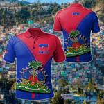 Haitian Pride All Over Print Polo Shirt