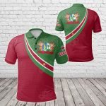 Suriname Coat Of Arms And Flag Color All Over Print Polo Shirt