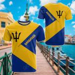 Barbados Flag Style All Over Print T-shirt