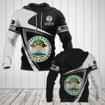 Customize Belize Coat Of Arms - Flag V3 All Over Print Hoodies