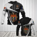 Customize Moldova Coat Of Arms - Flag V3 All Over Print Hoodies