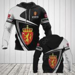 Customize Norway Coat Of Arms - Flag V3 All Over Print Hoodies