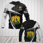 Customize Syria Coat Of Arms - Flag V3 All Over Print Hoodies