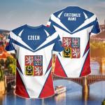 Customize Czech Republic New All Over Print T-shirt