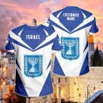 Customize Israel New All Over Print T-shirt