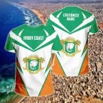 Customize Ivory Coast New All Over Print T-shirt