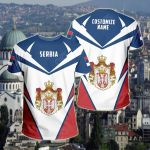 Customize Serbia New All Over Print T-shirt
