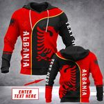 Customize Albania Eagle Style All Over Print Hoodies