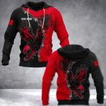 Customize Albania Mix Eagle All Over Print Hoodies