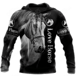 Horse Black All Over Print Shirts