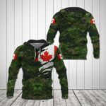Canada Flag Camo All Over Print Hoodies