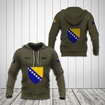 Customize Bosnia Coat Of Arms Hoodies