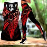 Amazing Fiji Polynesian Tattoo Hollow Tank Top Or Legging