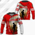 Canada Anzac Day All Over Print Hoodies