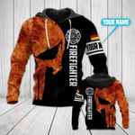 Customize German Firefighter All Over Print Hoodies