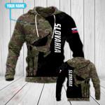 Customize Slovakia Army Skull All Over Print Hoodies