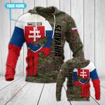 Customize Slovakia Army Skull Camo All Over Print Hoodies