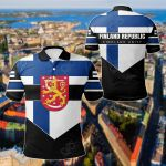 Finland Unity Style All Over Print Polo Shirt