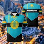 Kazakhstan Unity Style All Over Print Polo Shirt