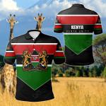 Kenya Unity Style All Over Print Polo Shirt