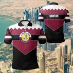 Qatar Unity Style All Over Print Polo Shirt