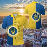 Ukraine Special Coat Of Arms All Over Print Polo Shirt